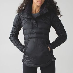 Lululemon Down For A Run pullover SIZE 4 'black'